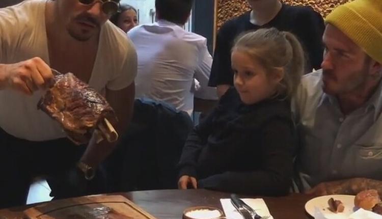 David Beckham ailesiyle birlikte Nusret'in New York'taki restoranına mı gitti?