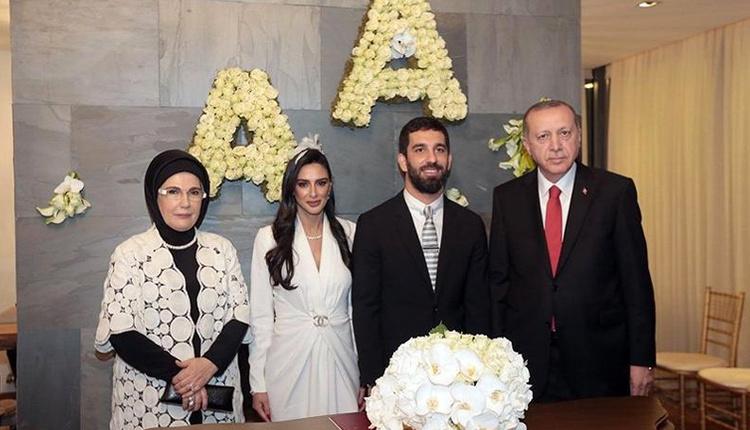 Arda Turan ve Aslıhan Doğan evlendi düğünlerine Cumhurbaşkanı Recep Tayyip Erdoğan'da katıldı!