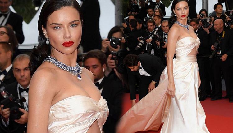 Adriana Lima Cannes Film Festivali'nin Burning filminde kırmızı halıda ne giydi?