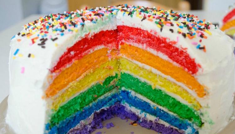 Gökkuşağı pasta nasıl yapılır malzemeleri nelerdir?