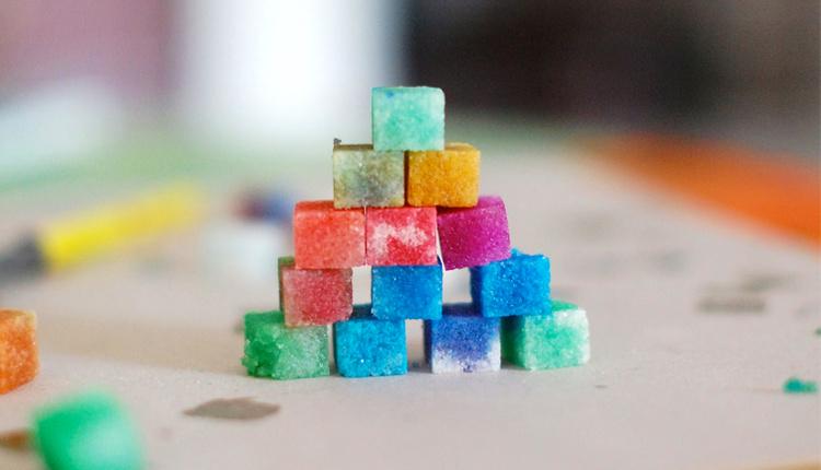 Evde küp şeker nasıl yapılır toz halinden katı haline getirmek için...