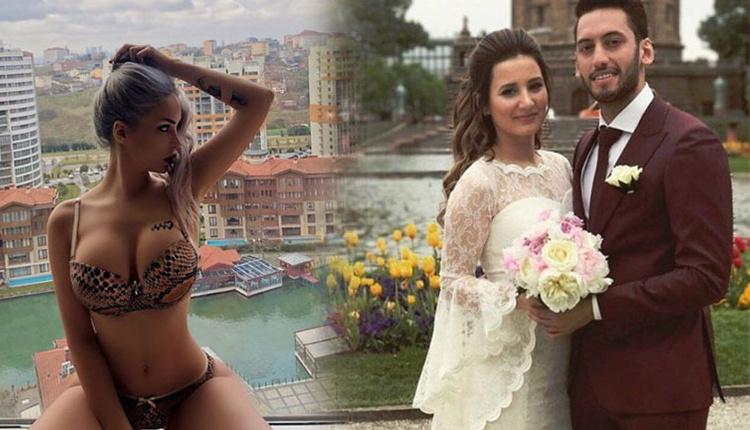 Merve Sanay'la mesajları ortaya çıkan Hakan Çalhanoğlu karısına aşkını ilan etti!
