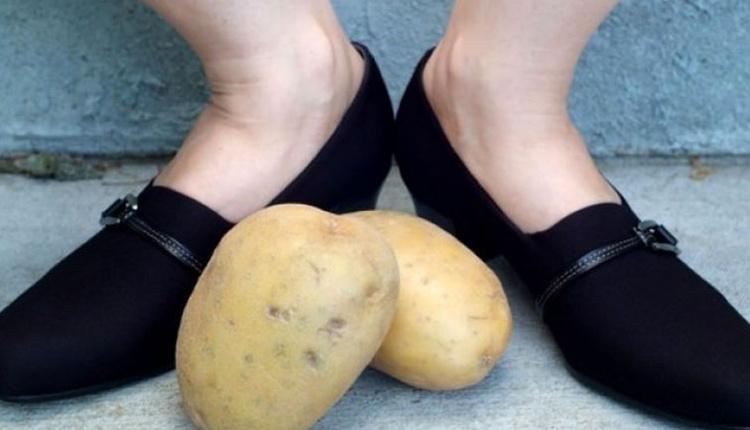 Patates ile ayakkabı genişletme nasıl yapılır bir gece bekleyerek...