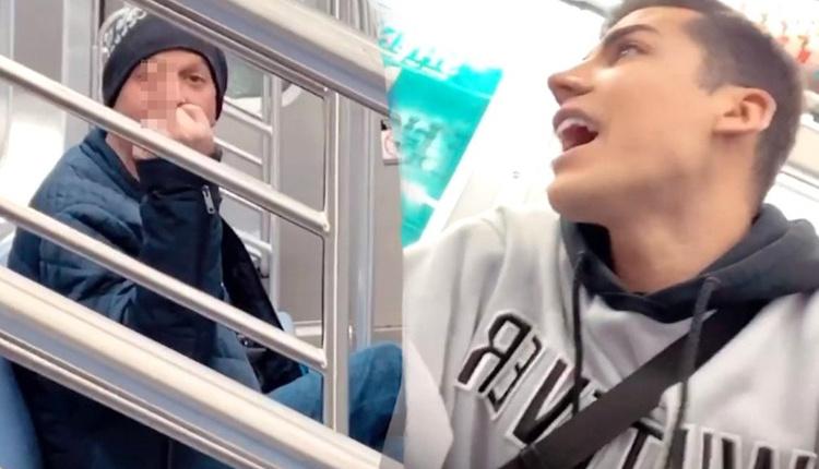 Kerimcan Durmaz, New York metrosunda bir adamla tartıştı küfürler havada uçuştu!