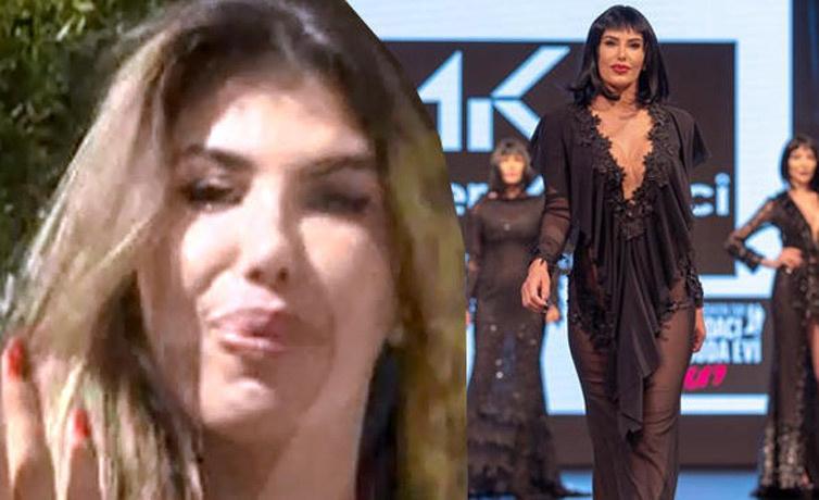Şarkıcı Hatice'nin defilede popo açma krizi sonrası 2. Sayfa programında ağladığı anların videosu